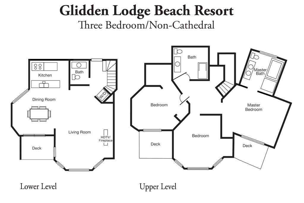 Three Bedroom Non-Cathedral - Room Layout