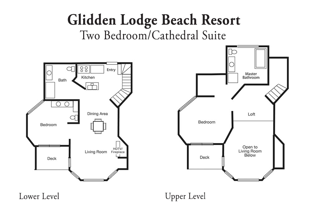 2 Bedroom Cathedral room layout